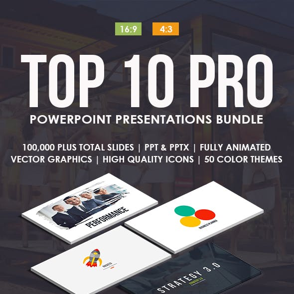 Top 10 IN 1 Pro Powerpoint Templates Bundle