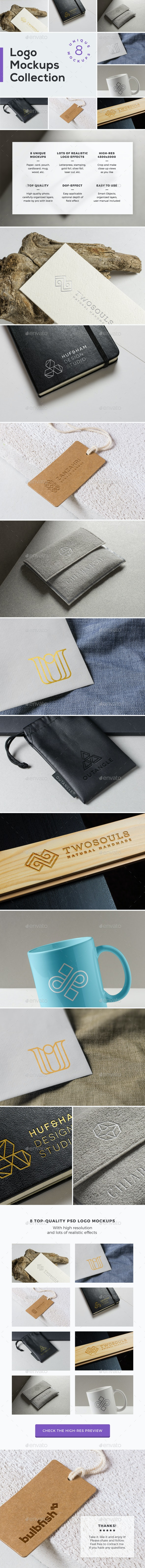 Logo Mockups Collection Vol. 2 - Logo Product Mock-Ups