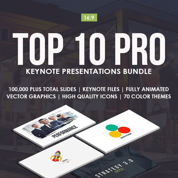 Top 10 IN 1 Pro Keynote Templates Bundle