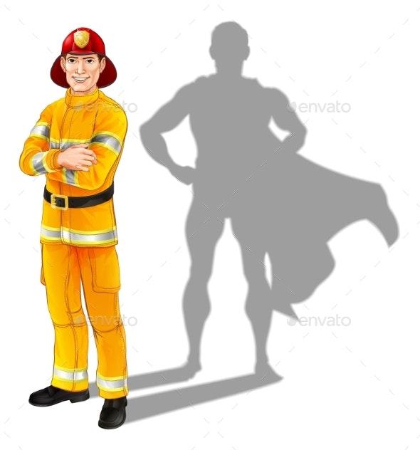 Fireman Hero - People Characters