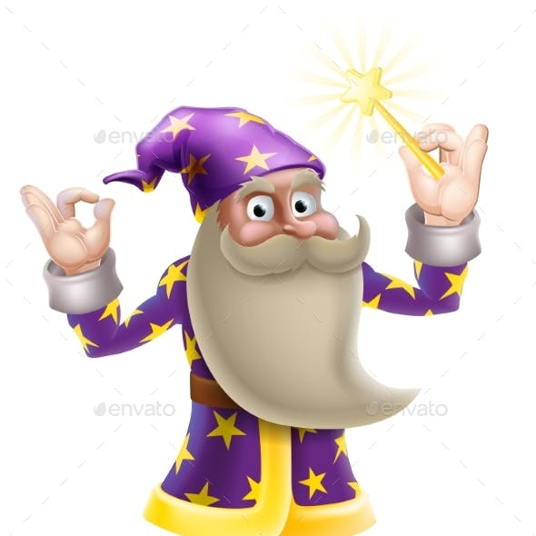 Wizard Doing Perfect Gesture