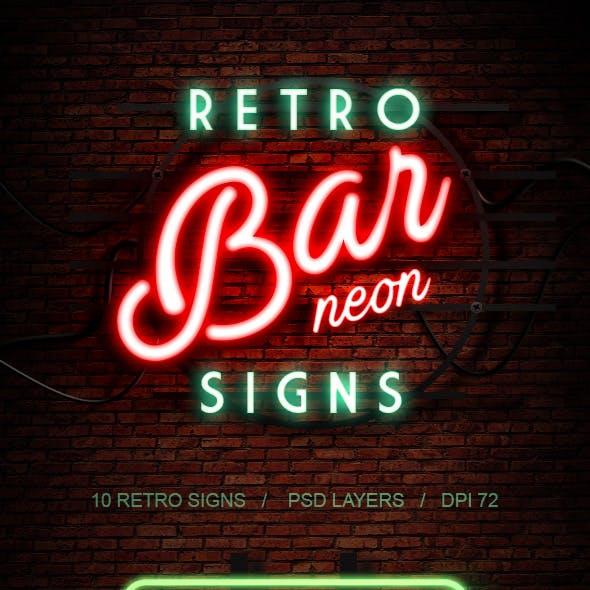 Retro Bar Neon Signs