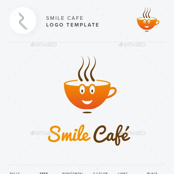 Smile Cafe Logo Template