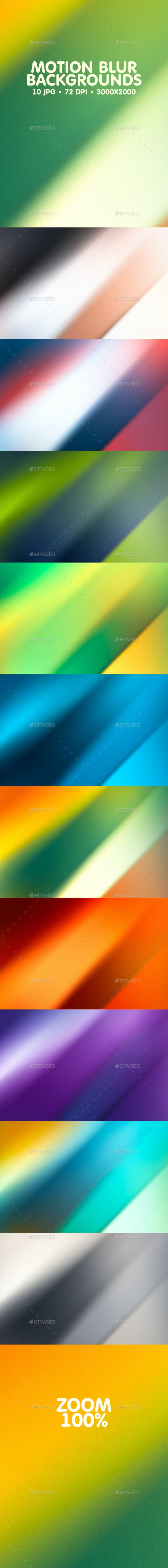 Motion Blur Backgrounds - Abstract Backgrounds
