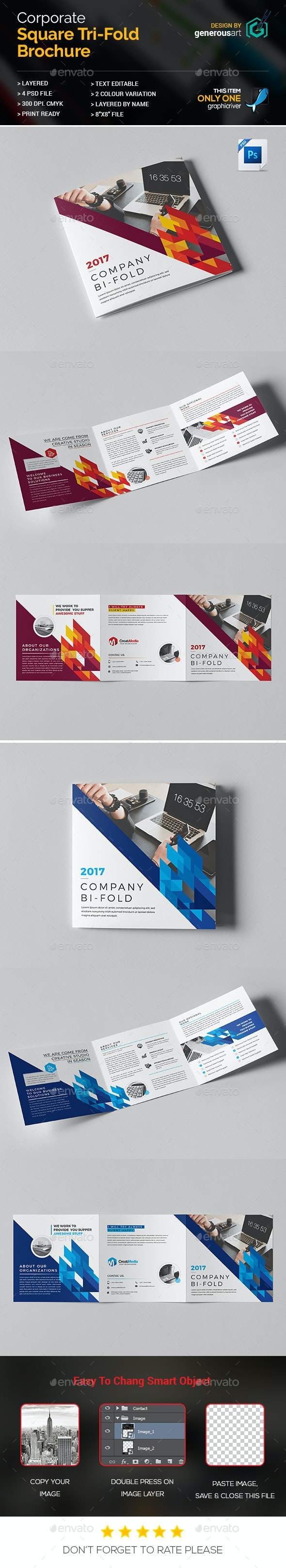 Square Tri-Fold - Corporate Brochures