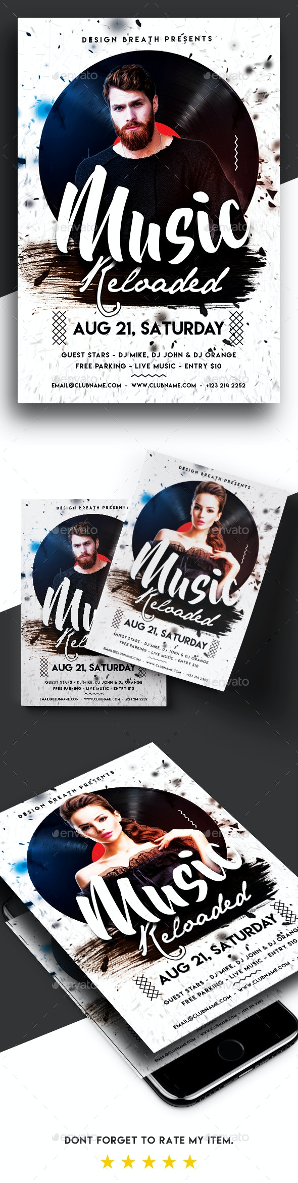 Music Reloaded Party Flyer - Clubs & Parties Events