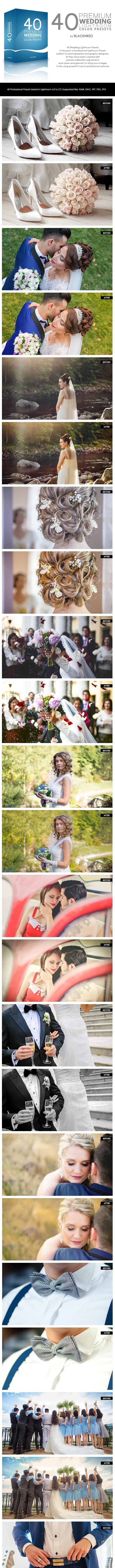 40 Premium Wedding Lightroom Preset Pack - Lightroom Presets Add-ons
