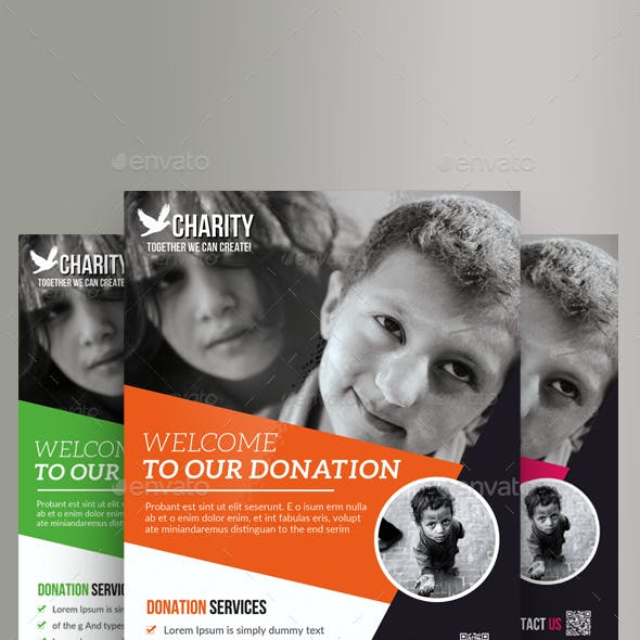 Charity & Donation Flyer Bundle