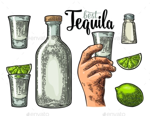 Tequila Set - Food Objects