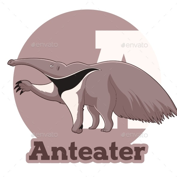 ABC Cartoon Anteater - Animals Characters
