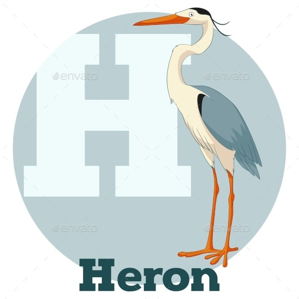 ABC Cartoon Heron - Animals Characters