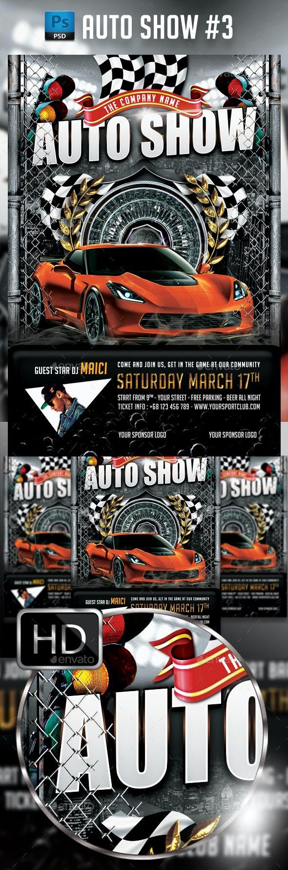 Auto Show Car - Events Flyers