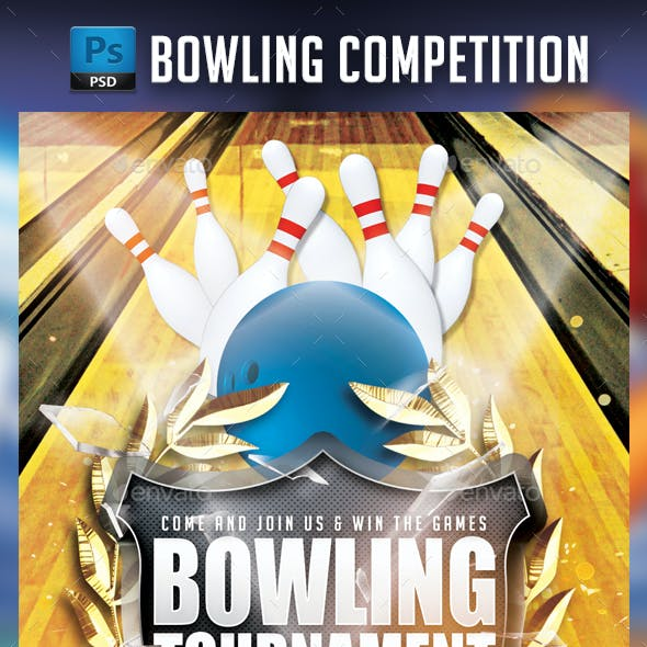 Bowling Championship Flyer Template