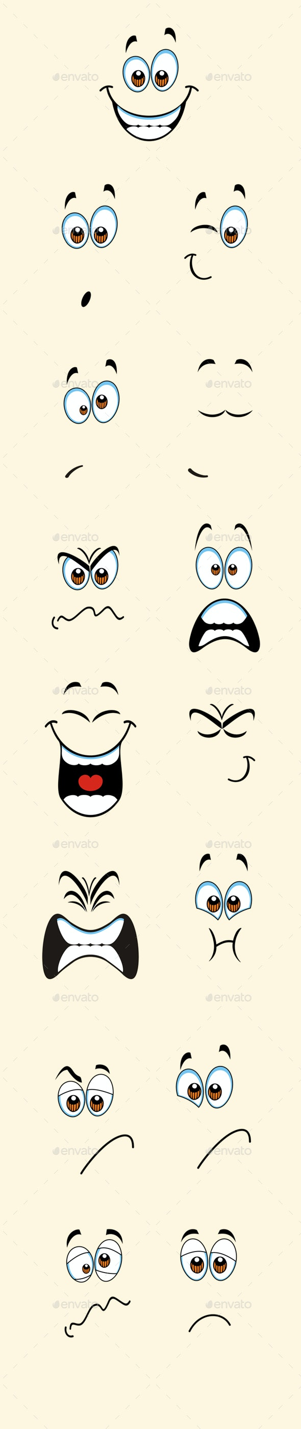 Isolated Cartoon Expressions - Miscellaneous Characters