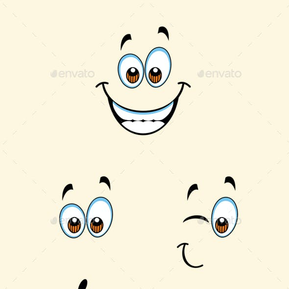 Isolated Cartoon Expressions