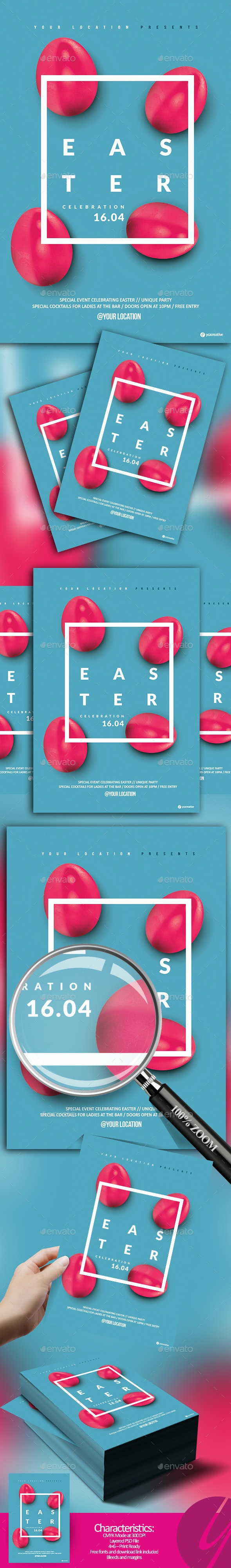 Minimalistic Easter Flyer - Holidays Events