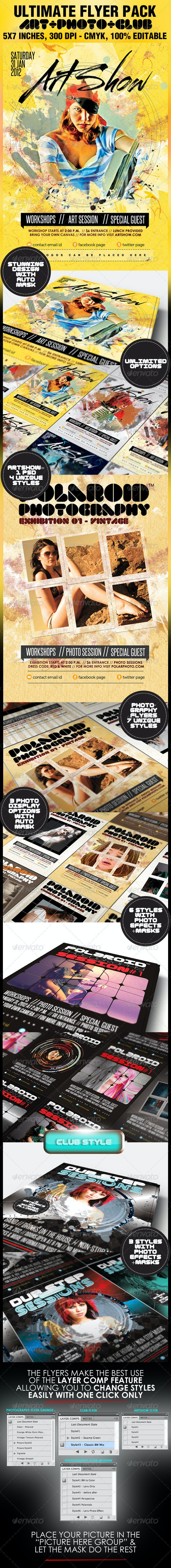 Art, Photography & Club Flyers - The Ultimate Pack - Miscellaneous Events