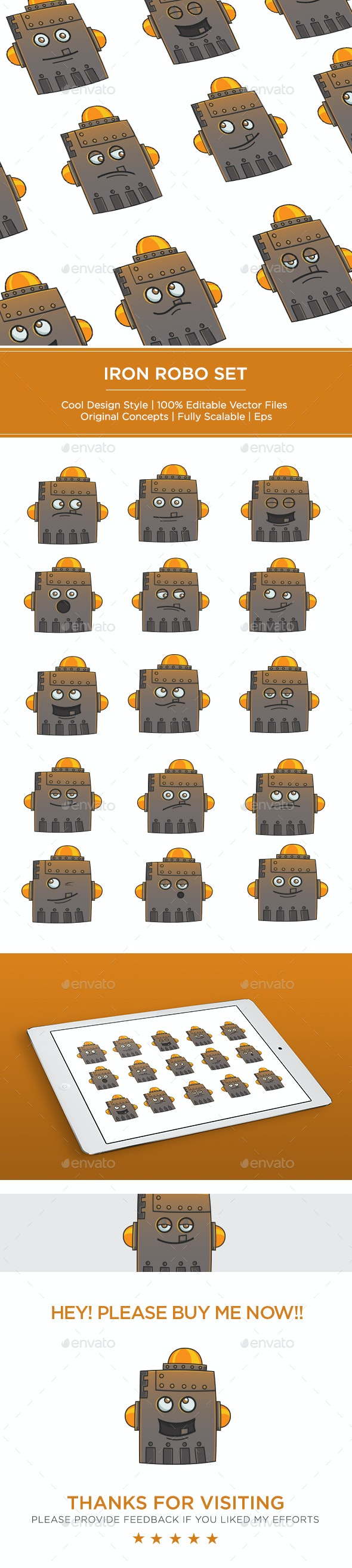 Iron Robot Set - Miscellaneous Characters