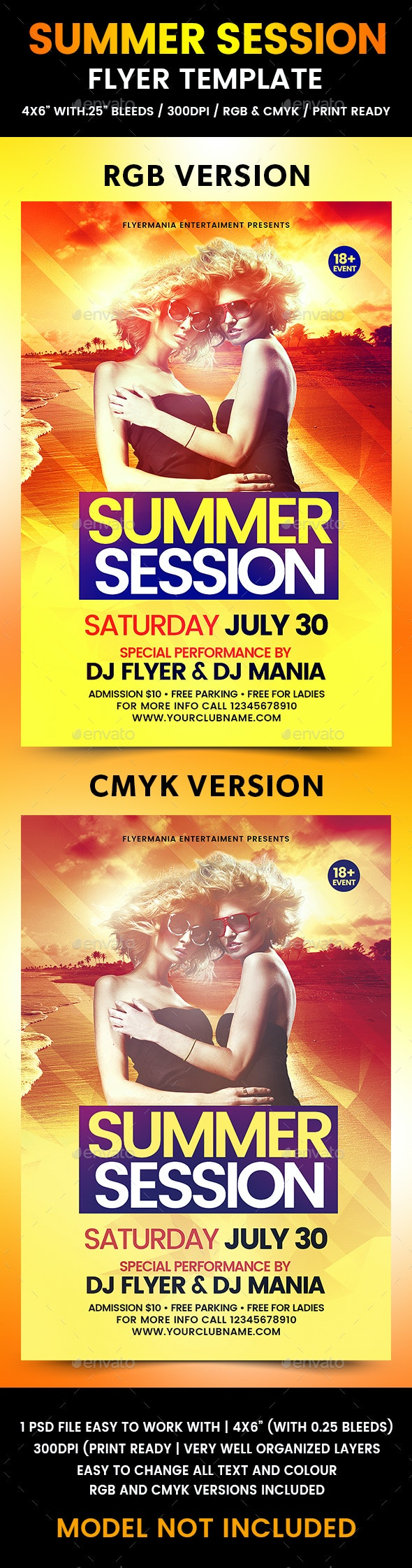 Summer Session Flyer Template - Flyers Print Templates