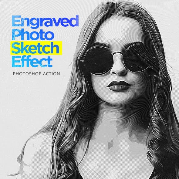 Engraved Photo Sketch Effect