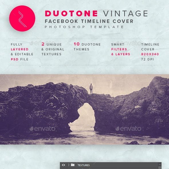 Vintage Duotone Timeline Template