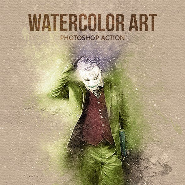Watercolor Art - Photoshop Action
