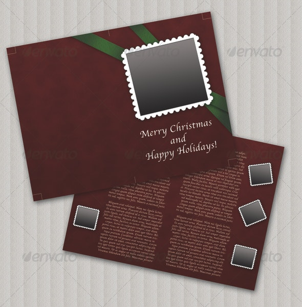 Christmas Card - Miscellaneous Print Templates