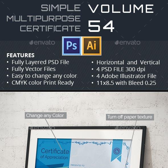 Multipurpose Certificate GD053