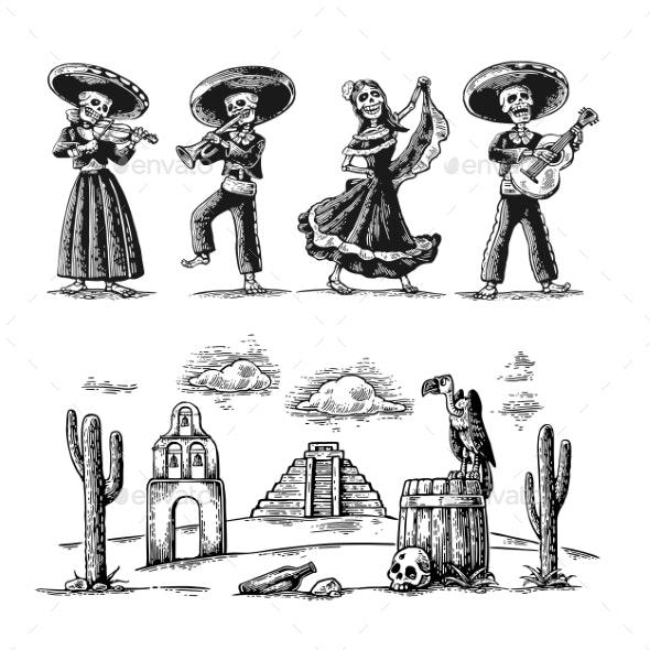Day of the Dead Dia De Los Muertos - Miscellaneous Seasons/Holidays