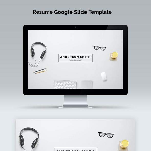 Resume Google Slide Template