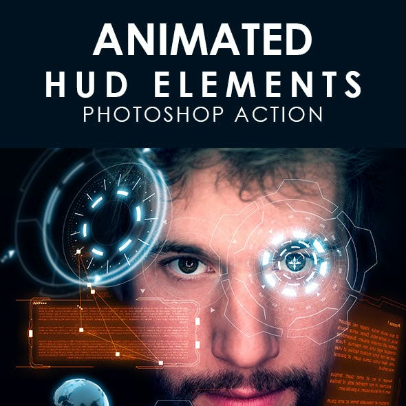 Animated HUD Elements Photoshop Action