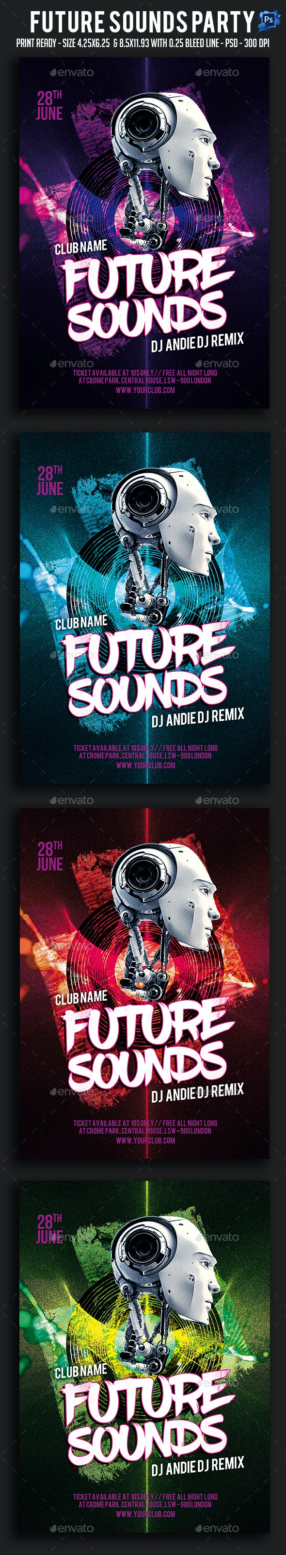 Future Sounds Party Flyer - Clubs & Parties Events