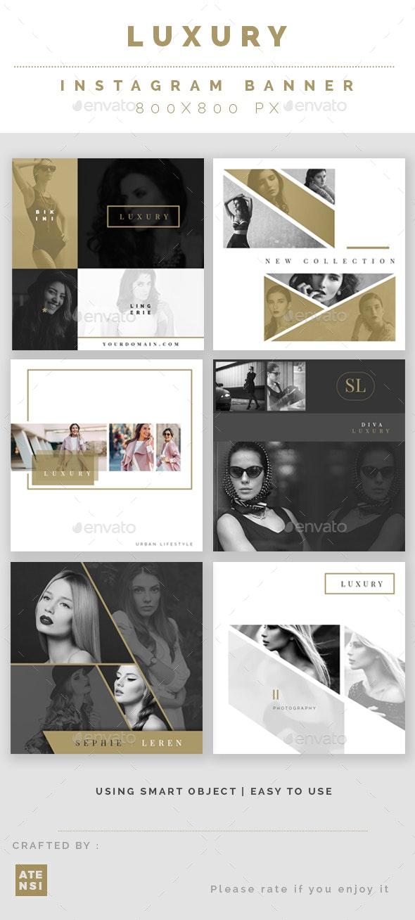 Creative Instagram Banner - Social Media Web Elements