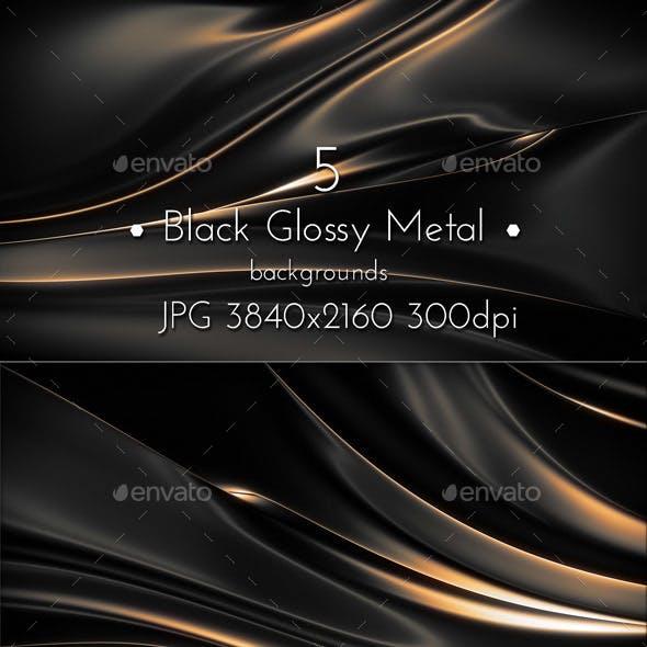 Black Glossy Background