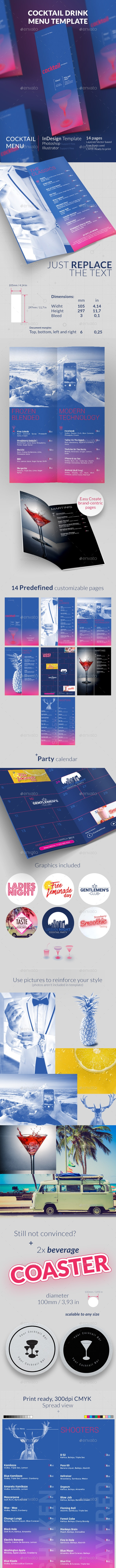 Cocktail Menu Template - Events Flyers