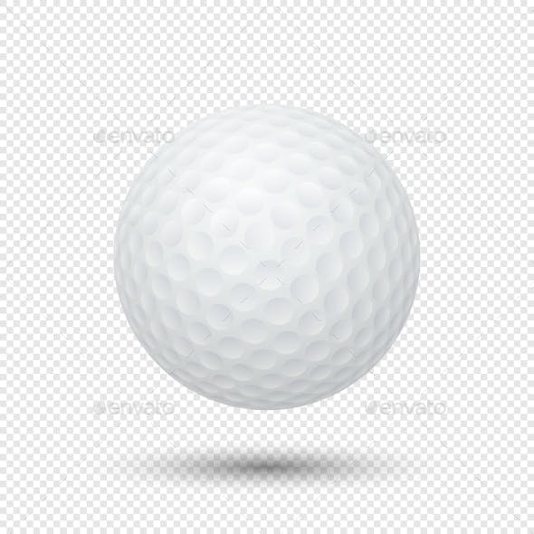 Vector Realistic Golf Ball