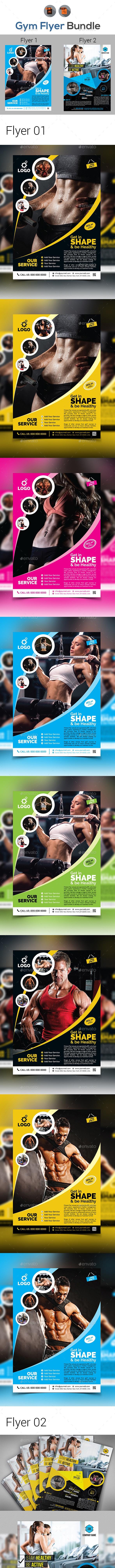 Fitness Flyer Bundle V10 - Corporate Flyers