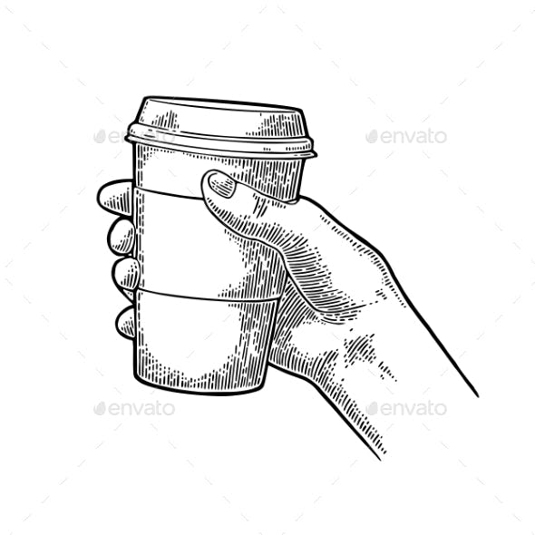 Hand Holding a Disposable Cup of Coffee