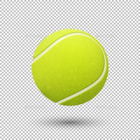 Vector Realistic Tennis Ball