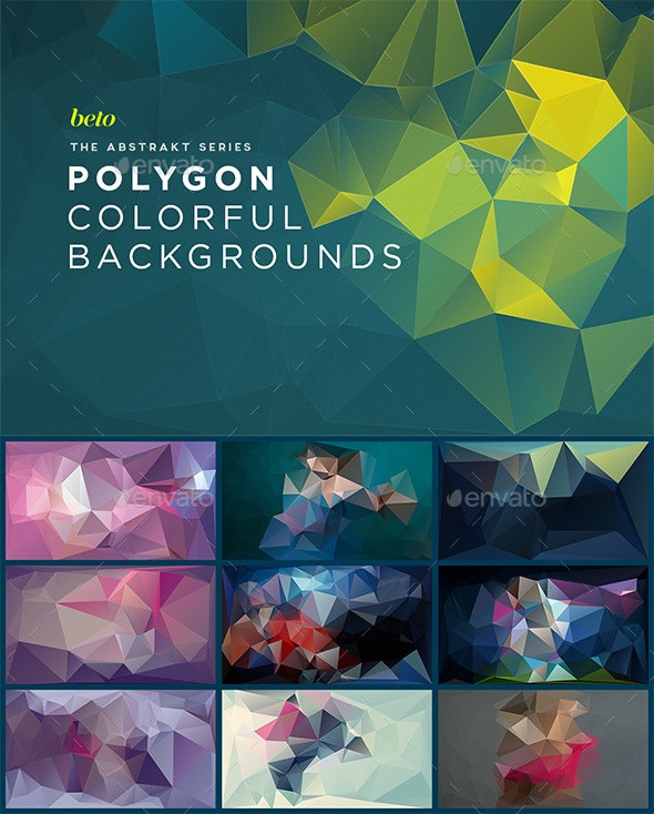 Polygon Abstract Backgrounds V3 - Abstract Backgrounds