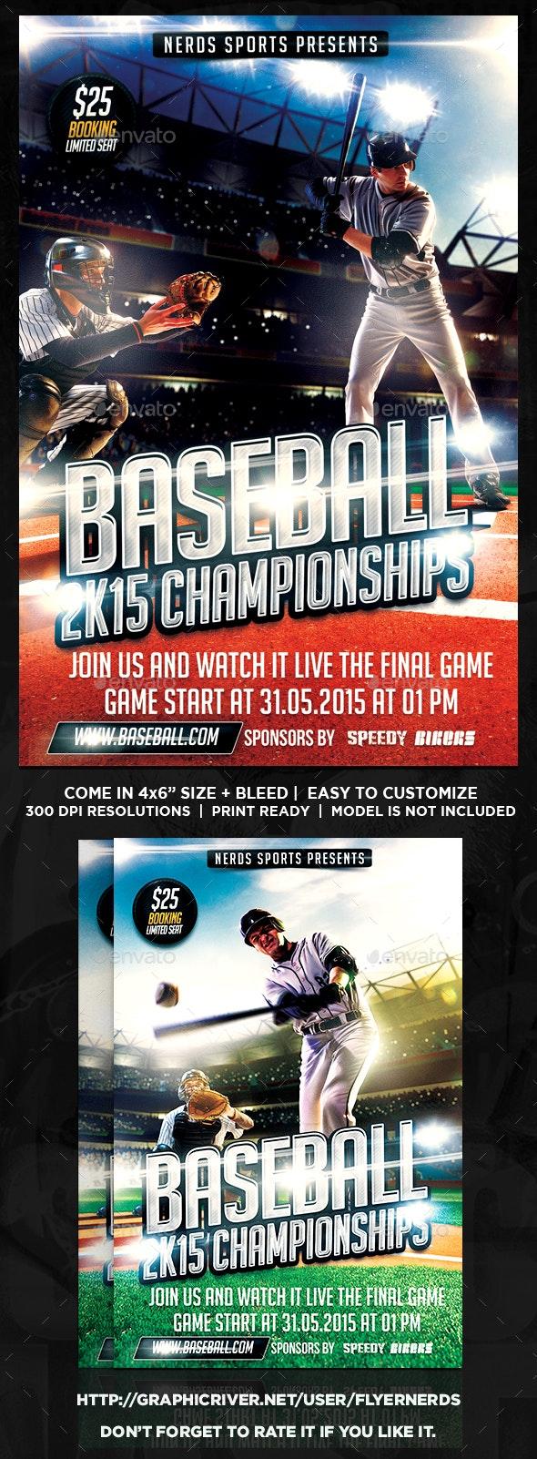 Baseball 2K15 Sports Flyer - Sports Events