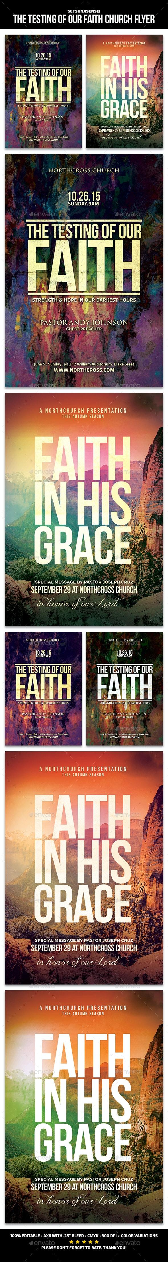 The Testing of Our Faith Church Flyer - Church Flyers