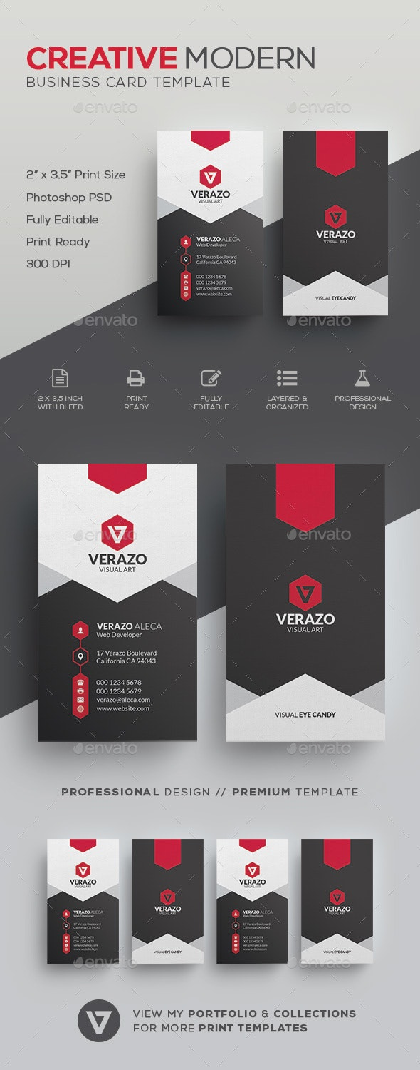 Stylish Business Card Template - Corporate Business Cards