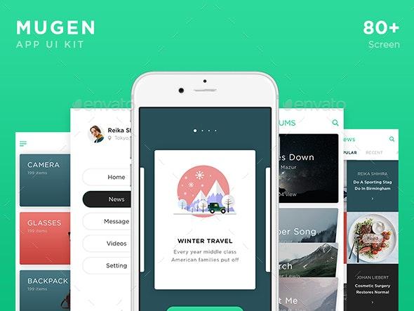 Mugen Mobile App UI KIT - User Interfaces Web Elements