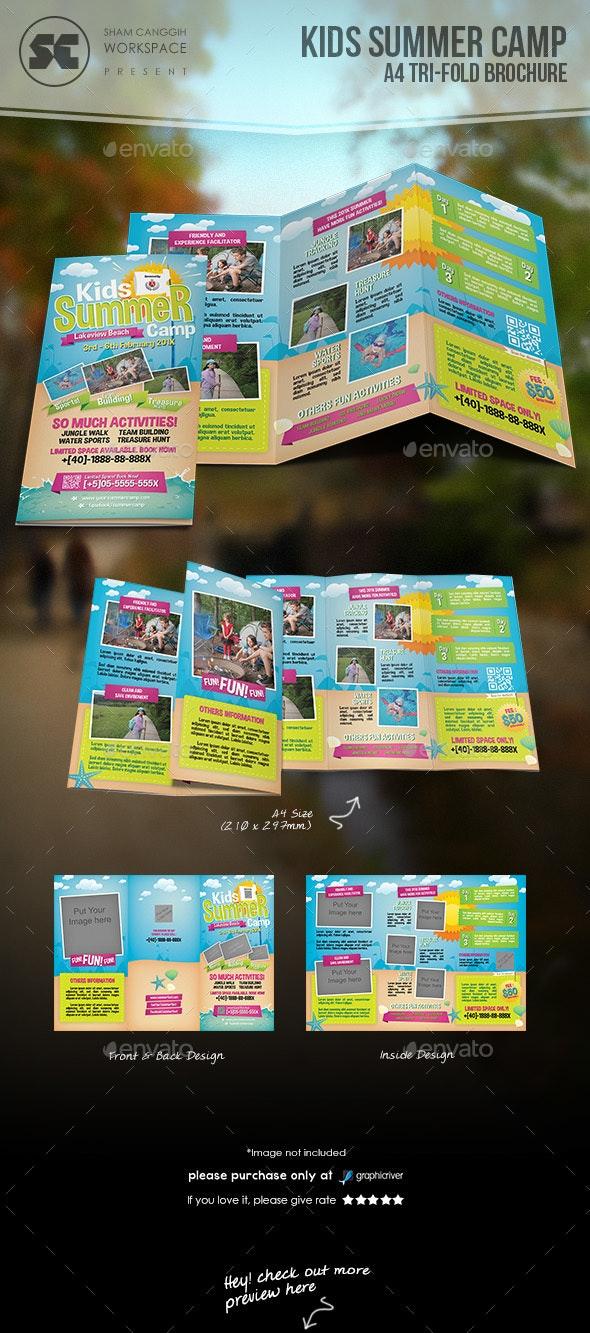 Kids Summer Camp Tri-Fold - Brochures Print Templates