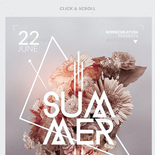 Minimalst Summer | Flyer Templates
