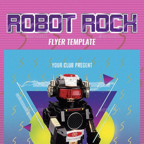 Robot Rock 2 Flyer Template