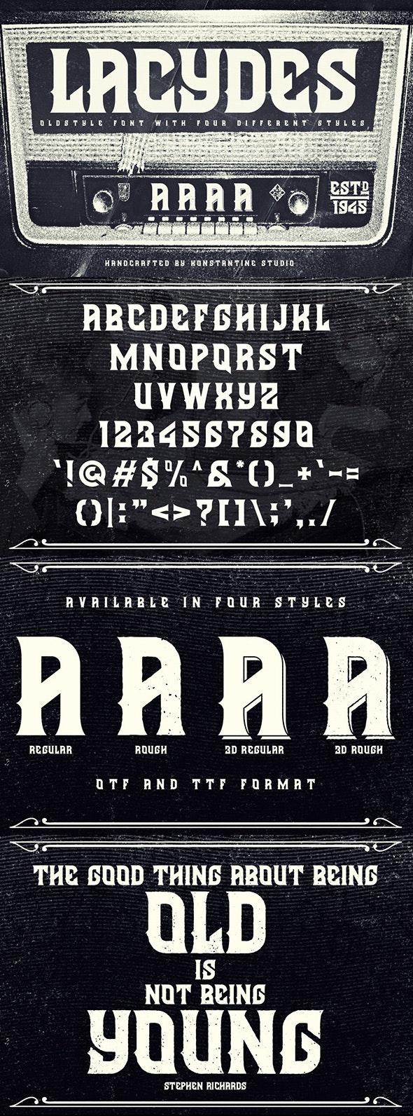 Lacydes - Serif Fonts