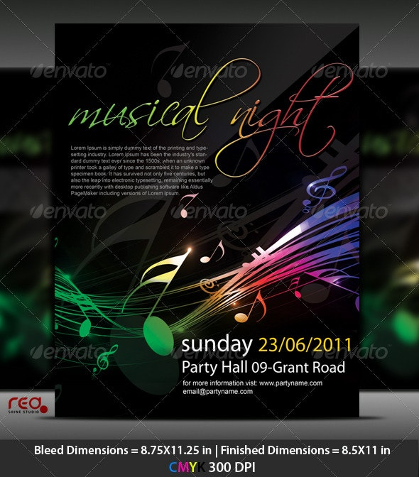 Music Party Poster/Flyer Template - Clubs & Parties Events
