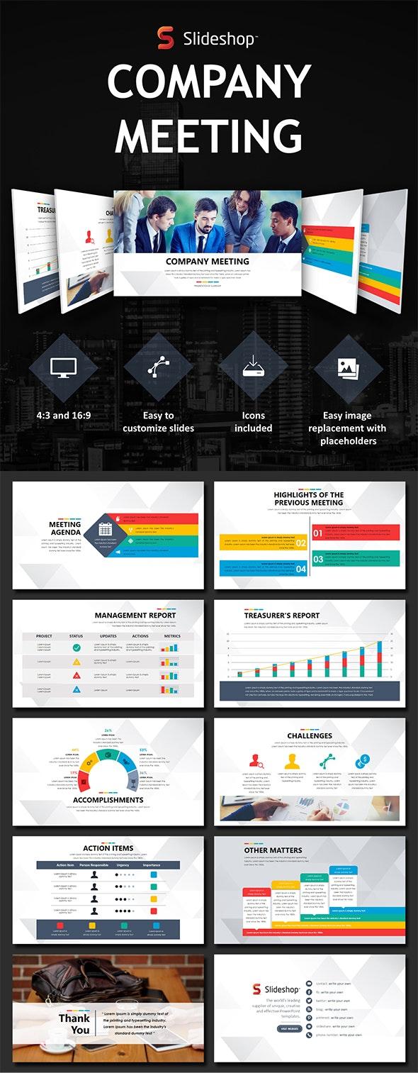 Company Meeting - Presentation Templates